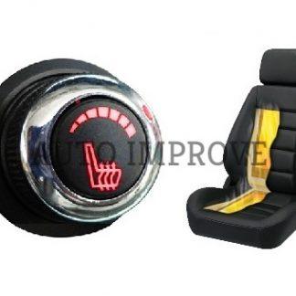 Kit incalzire scaun auto carbon 6 trepte luxury buton rosu