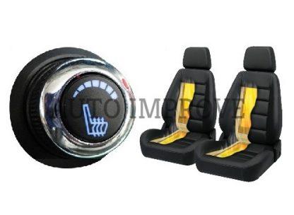 kit Incalzire scaune auto carbon 6 trepte Luxury Albastru