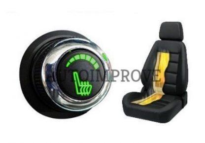 Kit incalzire scaun auto carbon 6 trepte luxury verde cromat