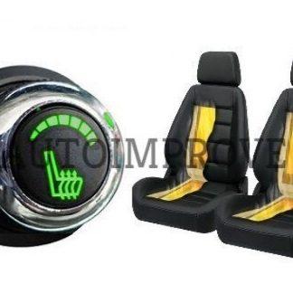 Kit incalzire scaune auto carbon 6 trepte luxury verde cromat