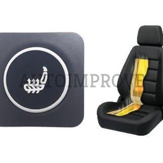 kit incalzire scaun auto carbon 3 trepte push rgb patrat