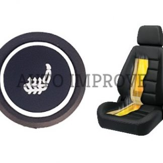 Kit incalzire scaun auto carbon 3 trepte push rgb rotund